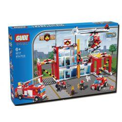 Xinlexin Gudi 9217 City Fire Station Xếp hình Trụ Sở Cứu Hỏa Với Trực Thăng Và Ô Tô Cứu Hỏa 874 khối