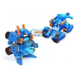 Lego Transformers Gudi 9910 Volcano Storm Xếp hình rô bốt biến hình bão lửa bắn đại bác tròn 119 khối