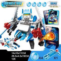 Xinlexin Gudi 9911 Transformers Flash Shadow Xếp Hình Rô Bốt Biến Hình Tia Chớp đen Bắn đại Bác Tròn 126 Khối