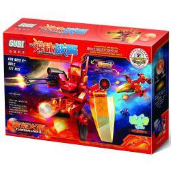 Xinlexin Gudi 9912 Transformers Flame Ball Fox Xếp Hình Rô Bốt Biến Hình Cáo Lửa Bắn đại Bác Tròn 111 Khối