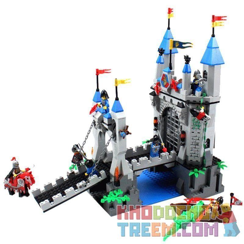 Enlighten 1022 (NOT Lego Castle 70404 Drawbridge ) Xếp hình Phòng Thủ Cổng Lâu Đài Sư Tử 996 khối