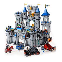 Lego Castle 10176 7094 Enlighten 1023 Medieval Lion Castle Knight Carriage Xếp hình bao vây lâu đài nhà vua 1393 khối