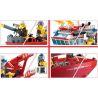 Enlighten 909 City 7207 Fire Boat Xếp hình tàu cứu hỏa lớn trên biển 361 khối
