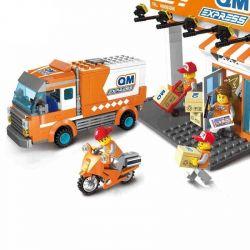 Enlighten 1119 City Express Courier Station Truck Transport City Xếp Hình ô Tô Chuyển Phát Nhanh 278 Khối
