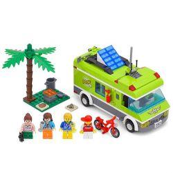 Lego City 7639 Enlighten 1120 Camper Xếp hình picnic bãi biển vui vẻ 300 khối