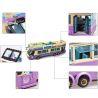 Enlighten 1123 City 41106 Pop Star Tour Bus Xếp hình xe buýt du lịch 2 tầng 455 khối