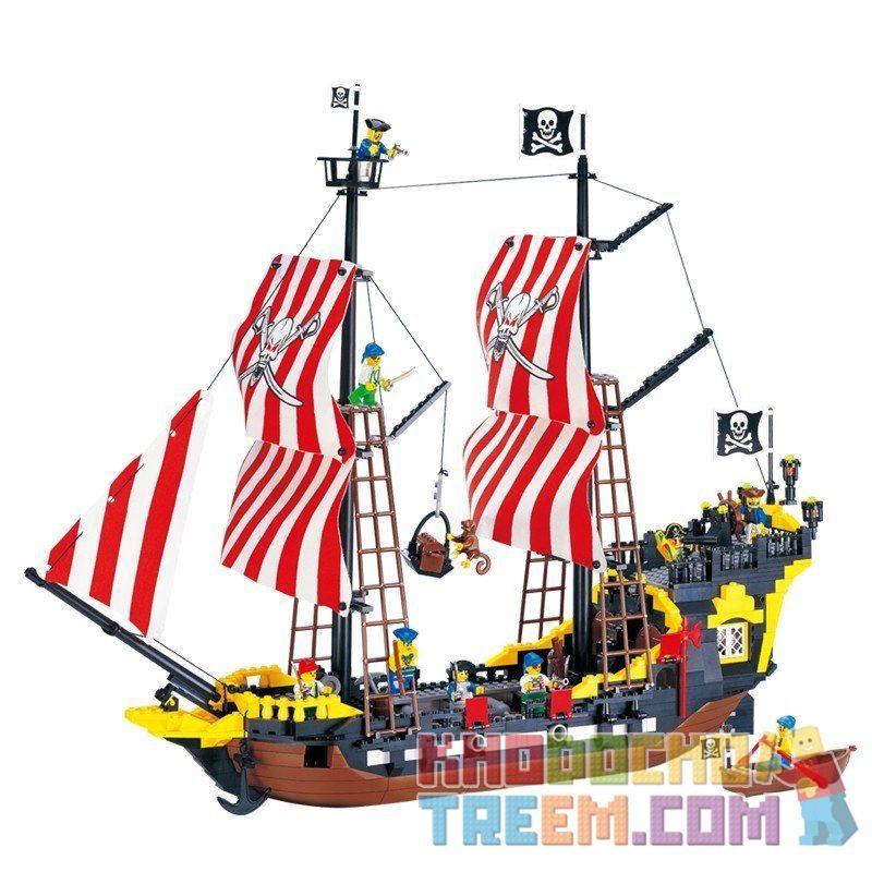 Lego Pirates 10040 Enlighten 308 The Black Pearl Xếp hình Tàu Cướp Biển Ngọc Trai Đen 870 khối