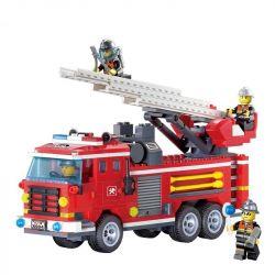 Enlighten 904 City Fire Ladder Truck Xếp Hình Xe Thang Cứu Hỏa 364 Khối