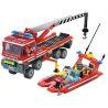 Lego City 7213 Enlighten 907 Off-Road Fire Truck & Fireboat Set Xếp hình xe tải cứu hỏa, xuồng cao tốc cứu hỏa 420 khối
