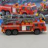 Lego City 60112 Enlighten 908 Fire Engine 607 Xếp hình xe thang cứu hỏa lớn và xe chiếu đèn 607 khối