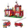 Enlighten 910 City 10671 Fire Emergency Xếp hình trụ sở cứu hỏa nhỏ 380 khối
