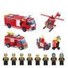 Enlighten 911 City 60004 Fire Station Rescue Control Regional Bureau Xếp hình Trụ Sở Cứu Hỏa Với Trực Thăng Và Xe Thang, Xe Phun Nước Cứu Hỏa 970 khối