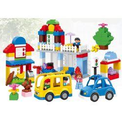 Lego Duplo 6052 Huimei HM069 My First Vehicle Set Xếp hình giao thông trong thành phố 123 khối