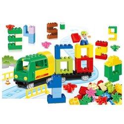 Lego Duplo Huimei HM108 The Train have some blocks Xếp hình Tàu hỏa với các khối xếp số 80 khối