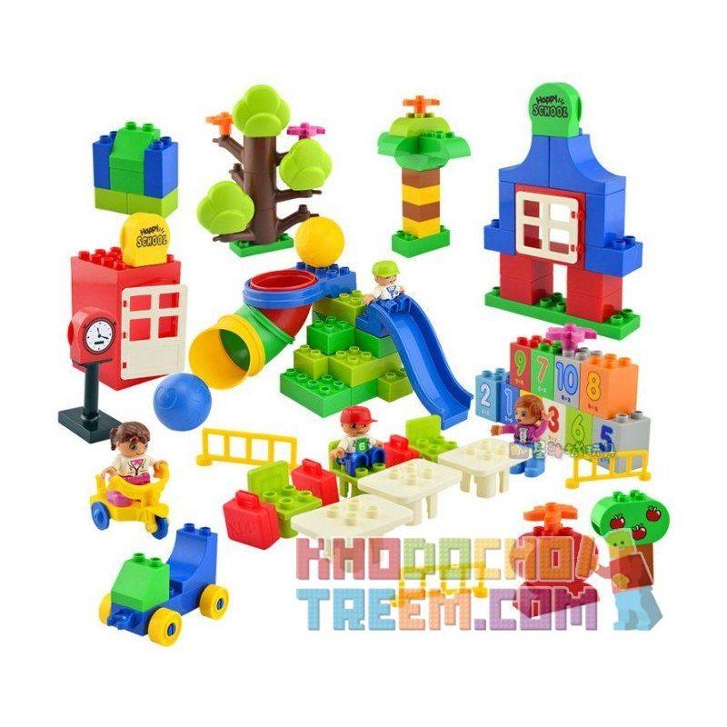 Huimei HM135 (NOT Lego Duplo ) Xếp hình Trường Học Hạnh Phúc 106 khối