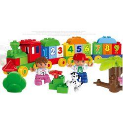 Lego Duplo 10558 Huimei HM136 Number Train 57 Xếp hình tàu hỏa tập đếm 57 khối