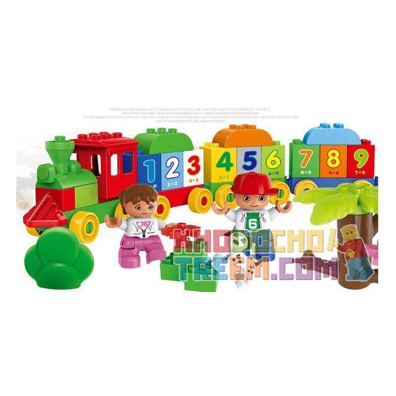 Huimei HM136 (NOT Lego Duplo 10558 Number Train 57 ) Xếp hình Tàu Hỏa Tập Đếm 57 khối
