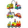 Huimei HM137 (NOT Lego Duplo 10552 Creative Cars ) Xếp hình Ô Tô Các Loại 52 khối