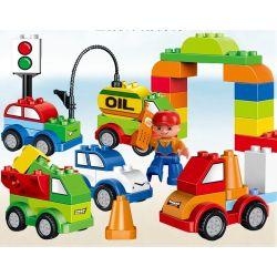 Lego Duplo 10552 Huimei HM137 Creative Cars Xếp hình ô tô các loại 52 khối