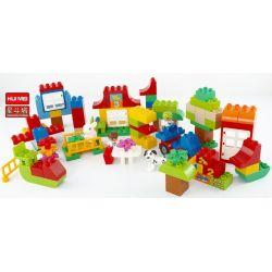 Lego Duplo 10580 Huimei HM139 Deluxe Box of Fun Xếp hình chơi với các con số 115 khối