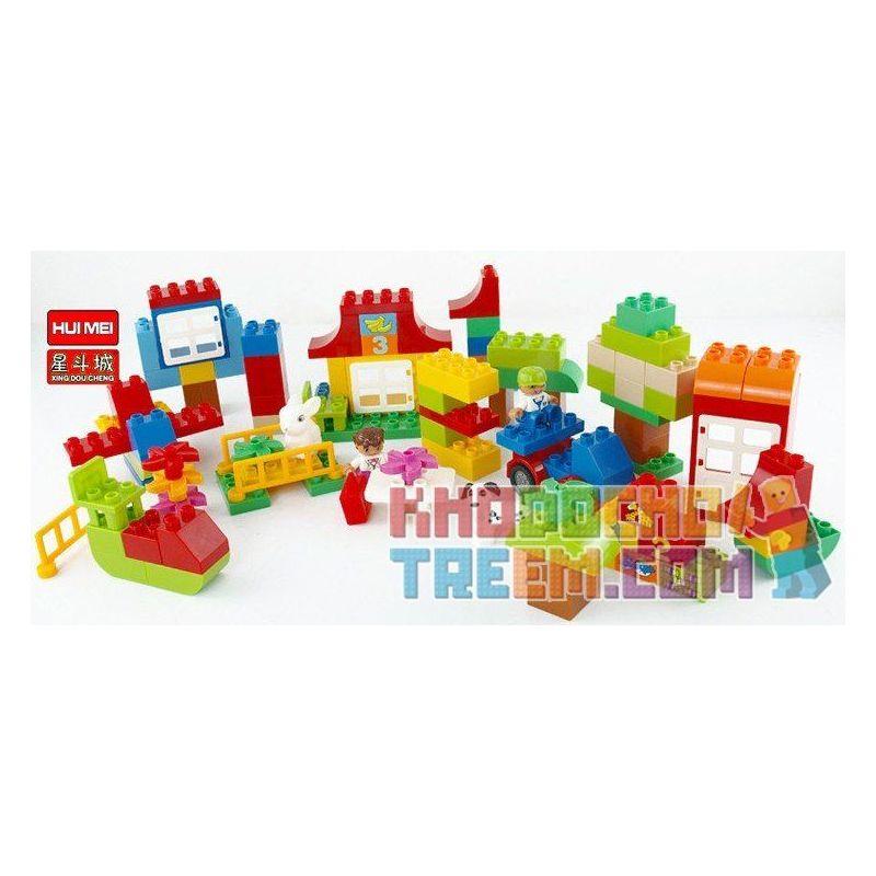 Huimei HM139 (NOT Lego Duplo 10580 Deluxe Box Of Fun ) Xếp hình Chơi Với Các Con Số 115 khối