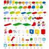 Lego Duplo 10622 Huimei HM180 Large Creative Box Xếp hình sáng tạo hộp siêu lớn 160 khối