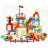 Lego Duplo 5588 Huimei HM183 Duplo Giant Box Xếp hình sáng tạo hộp nhựa khổng lồ 210 khối