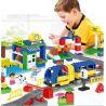 Lego Duplo 3772 Huimei HM311 Deluxe Train Set Xếp hình tàu hỏa động cơ pin và ray 2 vòng tròn lồng nhau 125 khối