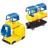 Huimei HM315 Duplo 66524 Train Super Pack 3-in-1 Xếp hình tàu hỏa động cơ pin xanh da trời chạy và ray có cầu vượt 157 khối