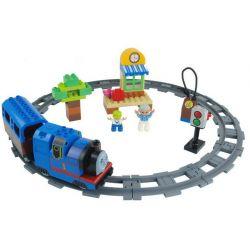Lego Duplo 5544 Huimei HM327 Thomas Starter Set Xếp hình tàu hỏa động cơ pin Thomas và ray hình tròn 48 khối