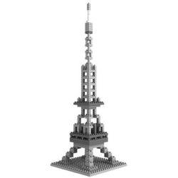 Nanoblock Architecture 21019 Loz 9361 Eiffel Tower Xếp hình tháp Eiffel 280 khối