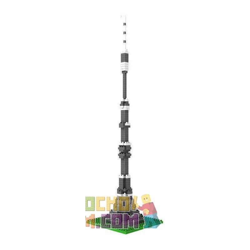 Loz 9362 Nanoblock Architecture Ostankino Tower Xếp hình Tháp Truyền Hình Ostankino 190 khối