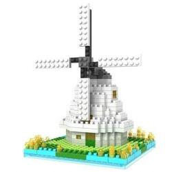 Nanoblock Architecture Loz 9363 Windmill Xếp hình cối xay gió 250 khối