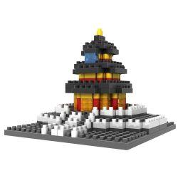 Nanoblock Architecture Loz 9364 Temple Of Heaven Xếp hình Thiên đàn 220 khối