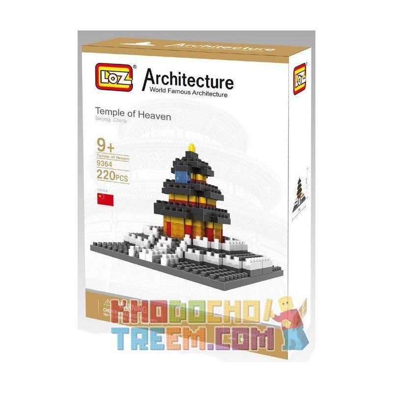 Loz 9364 Nanoblock Architecture Temple Of Heaven Xếp hình Thiên Đàn 220 khối