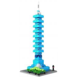Nanoblock Architecture Loz 9365 Taipei 101 World Financial Center Xếp hình tháp trung tâm tài chính Đài Bắc 101 390 khối