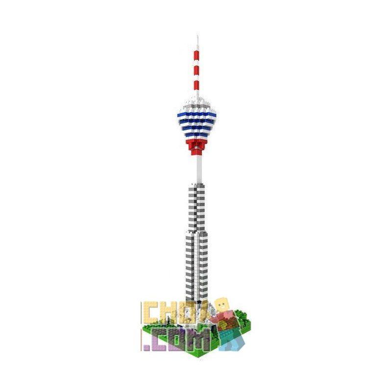 Loz 9368 Nanoblock Architecture Kuala Lumpur Tower Xếp hình Tháp Kuala Lumpur 550 khối