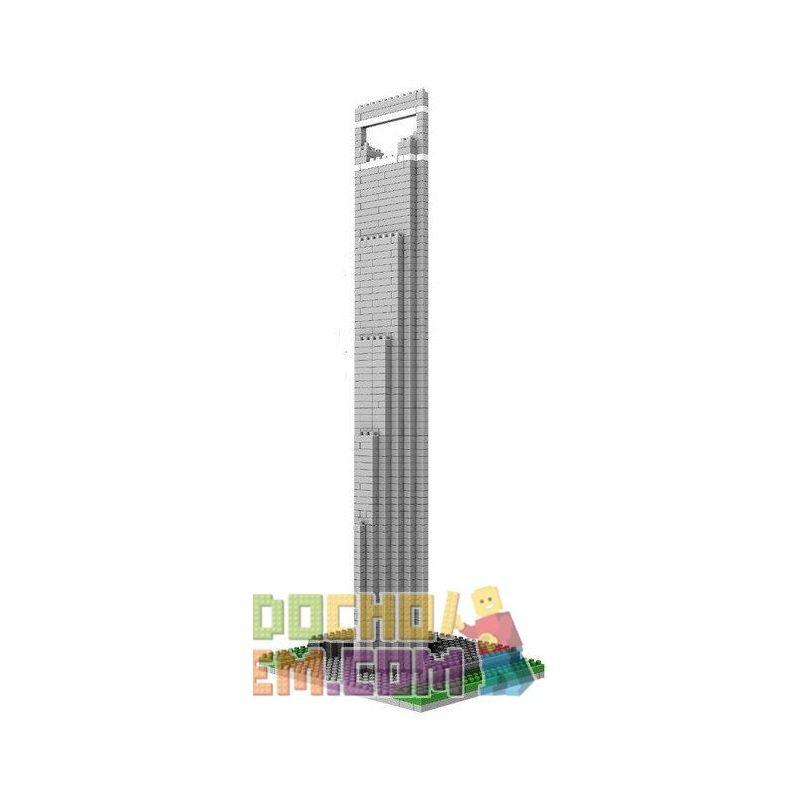 Loz 9372 Nanoblock Architecture Shanghai Financial Center Xếp hình Trung Tâm Tài Chính Thượng Hải 1170 khối