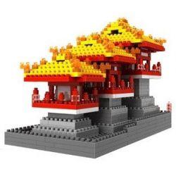 Loz 9373 Nanoblock Architecture Daming Palace Xếp hình Cung Điện Daming 740 khối
