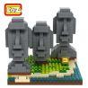 Loz 9378 Nanoblock Architecture Easter Island Statue Xếp hình Tượng Moai Trên Đảo Phục Sinh 440 khối