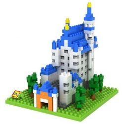 Nanoblock Architecture Loz 9380 Neuschwanstein castle Xếp hình lâu đài Neuschwanstein nhỏ 550 khối