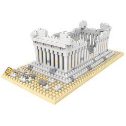 Loz 9383 Architecture Greek Temple Xếp Hình đền Parthenon 600 Khối