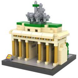 Nanoblock Architecture 21011 Loz 9385 Brandenburg Gate Xếp hình cổng Brandenburg 560 khối