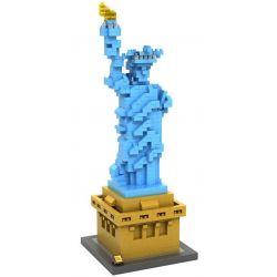 Nanoblock Architecture Loz 9387 Statue of Liberty Sculpture Xếp hình tượng Nữ thần Tự Do 820 khối