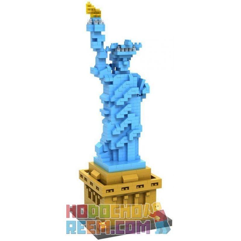 Loz 9387 Architecture Statue of Liberty Sculpture Xếp hình tượng Nữ thần Tự Do 820 khối