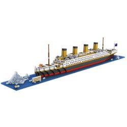 Nanoblock Creator Series MOC Loz 9389 Titanic Xếp hình Tàu Titanic 1860 khối