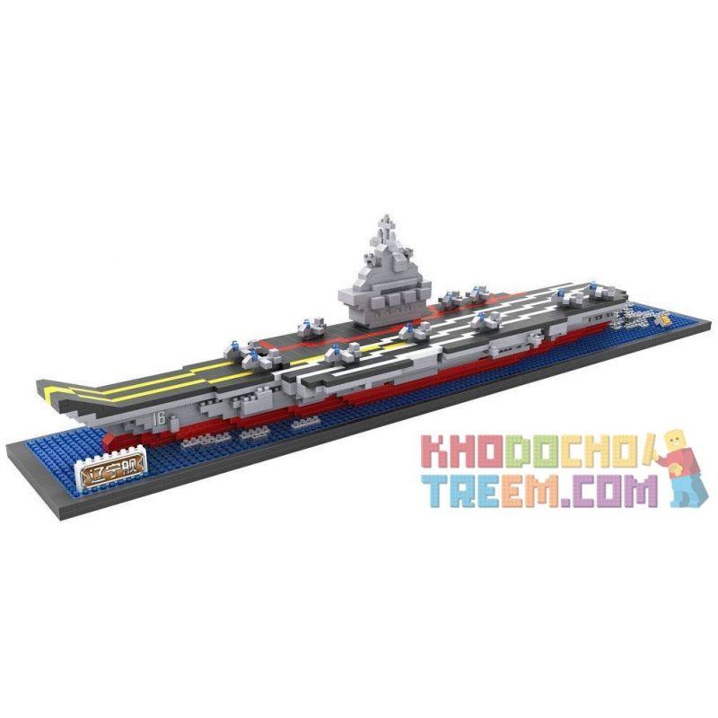 Loz 9390 Haiyang Star SS993-9 Creator Series MOC Aircraft Carrier Xếp hình Tàu sân bay 1300 khối