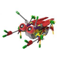 Lego Mixels Loz 3014 A0014 Electric burst cicadas robot Xếp hình rô bốt ve sầu động cơ pin 122 khối