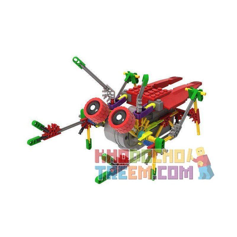 Loz 3014 A0014 Buildingblocks Jungle Robots Robotic Cicada Xếp hình Rô bốt ve sầu động cơ pin 122 khối