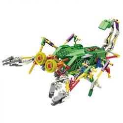 Lego Jungle Robots Loz 3019 Electric scorpion king robot Xếp hình Rô bốt bọ cạp lớn động cơ pin 160 khối